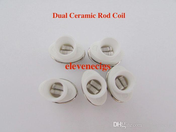 Quartz Wax Ceramic Rod Dual Coil Ceramic Donut Replacement Core Atomizer For Wax Vaporizer Pen Quartz Rod for Elips Micro Cloud Pen Tank