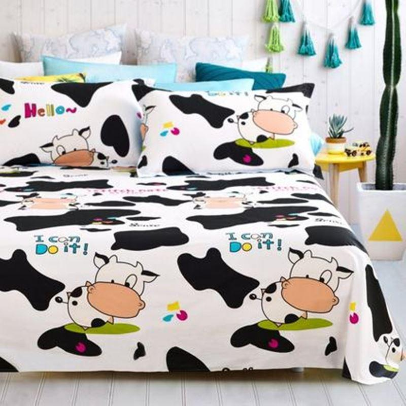 Marvelous 100% Cotton Cartoon Kids/Children Lovely Dairy /Cow/ Lollipop Bedsheets  Bedding Sheet All Size Choice Laying Carpet Lees Carpet From Wengminyi, ...
