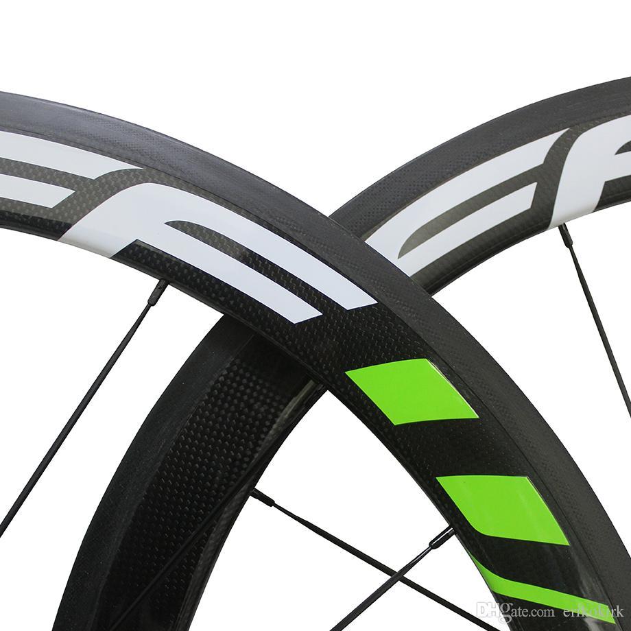 China Oem FFWD 50mm Carbon Road Wheels Wheelset Clincher/Tubular Matte/ glossy Bike Wheelset many colors