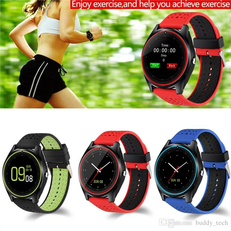 V9 Smart Watch Android Smart Watches SIM Intelligent Mobile Phone Watch Sleep Monitor Sport Pedometer Smart Watch With Retail Box