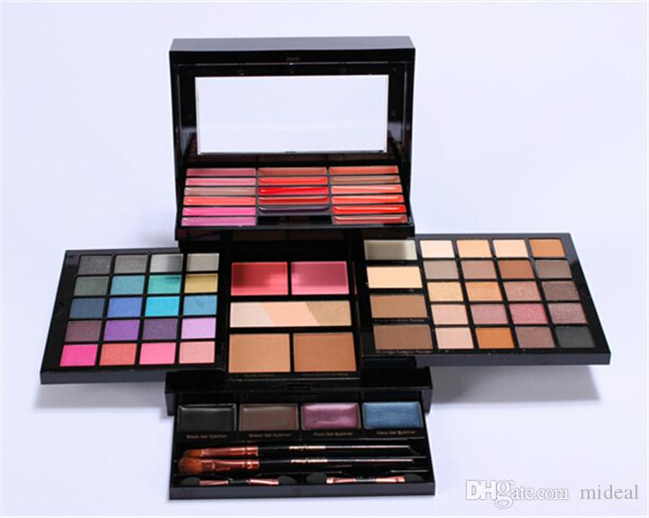 Neueste Fülle Make-up Sets Pro Elevation Kit Creme Lipgloss Highlither Blush Lidschatten-Palette Mit Bürsten DHL Versand