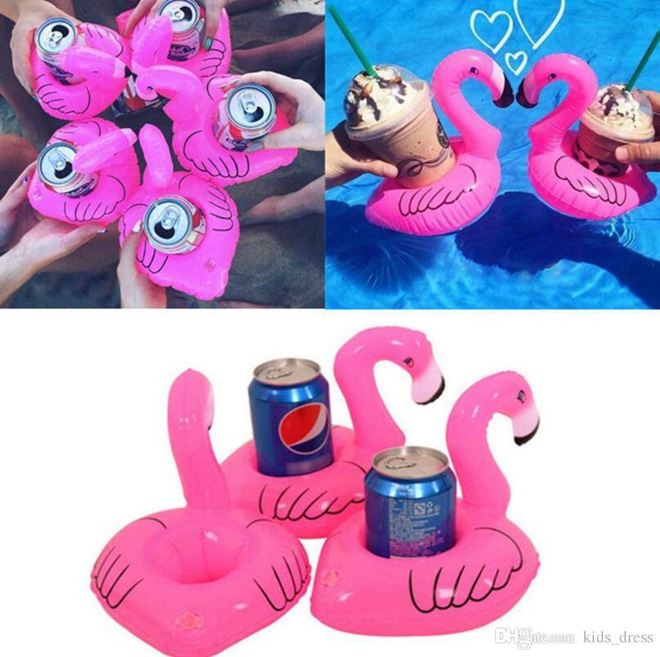 Getränkehalter Flaschenhalter Aufblasbar Badespielzeug Pool Trinkhalter Flamingo Aufblastiere