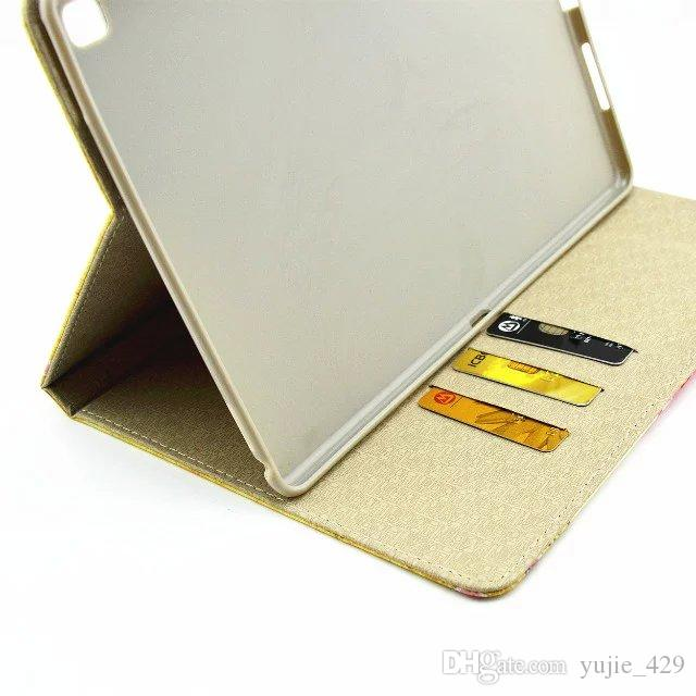 Caso de capa de couro pu virar suporte protetor estilo retro para ipad pro ipad 6 ipad 234 ipad mini
