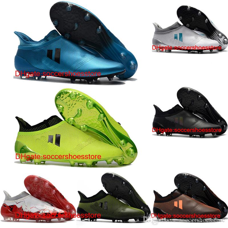 c4c044d9751 2018 Mens Soccer Shoes X 17 Purechaos FG Original High Ankle Soccer Cleats  Ace 17 Purecontrol Football Boots Purespeed Confed Cup Cheap Cracked  Leather ...