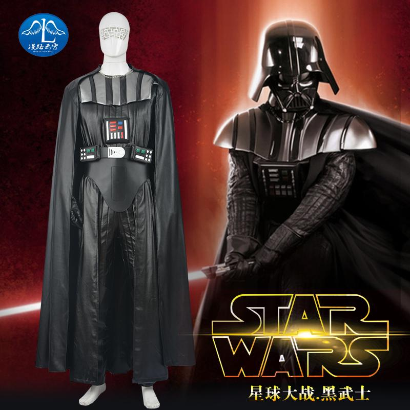 star wars darth vader costume outfit suits pu leather jumpsuit suit adult men dark lord halloween cosplay costumes custom make - Halloween Darth Vader