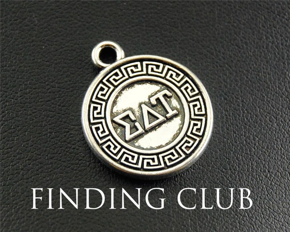 2018 Antique Silver Greek Letter Eat Round Charm Pendant Jewelry Making Diy Handmade Craft 20mm A1288 From Kepiwell5, $11.37 | Dhgate.Com