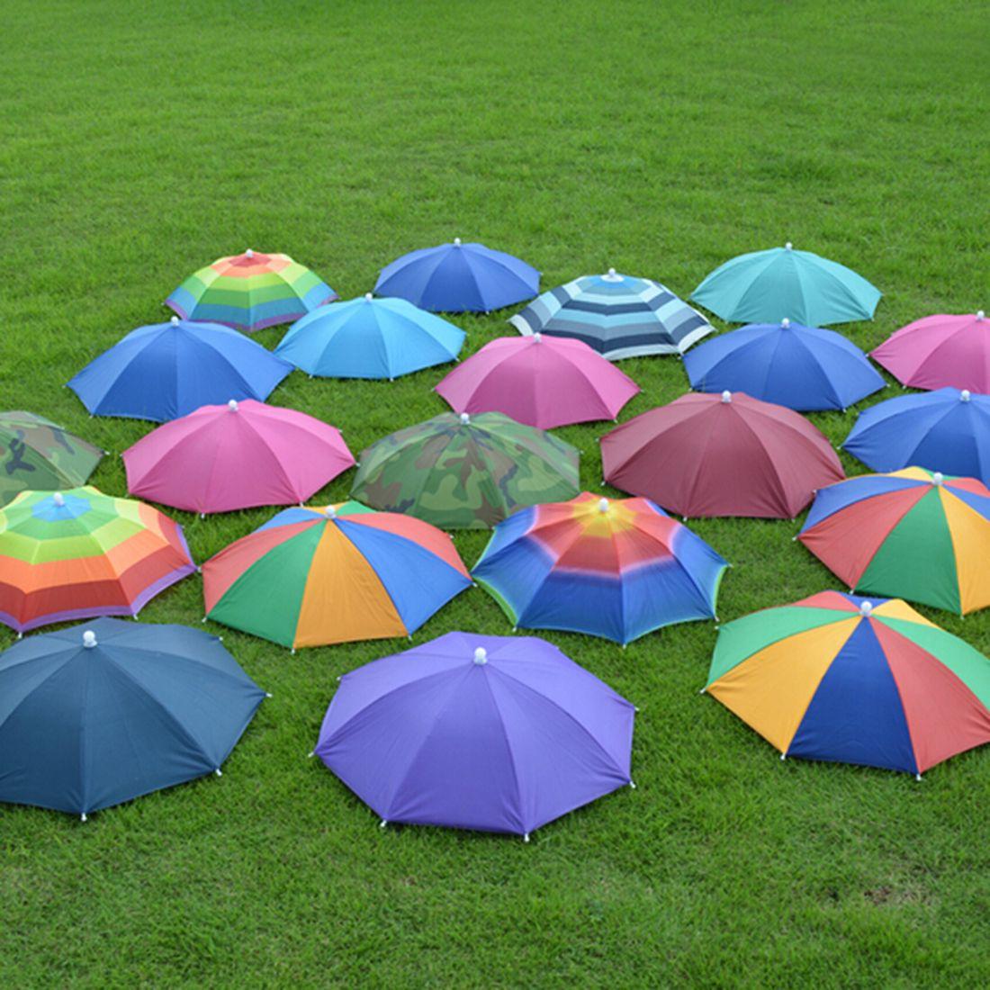 2018 Foldable Headwear Sun Umbrella Fishing Hiking Beach Camping ...