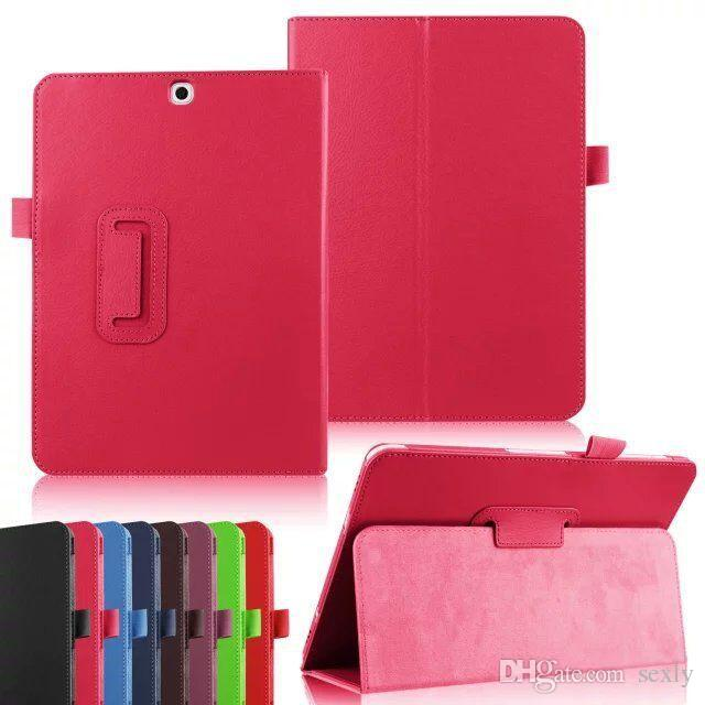 Magnetic Stand Flip Folio Leather case for Samsung Galaxy tab E A S2 S T550 T280 T580 T710 T800 T810 T560 T377 cover DHL