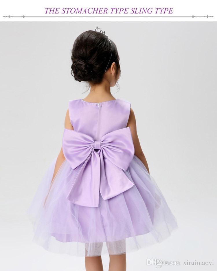 Большой лук цветок девушка платья симпатичные бальные платья первый связи платья с талией и больше цветов пояс украшен