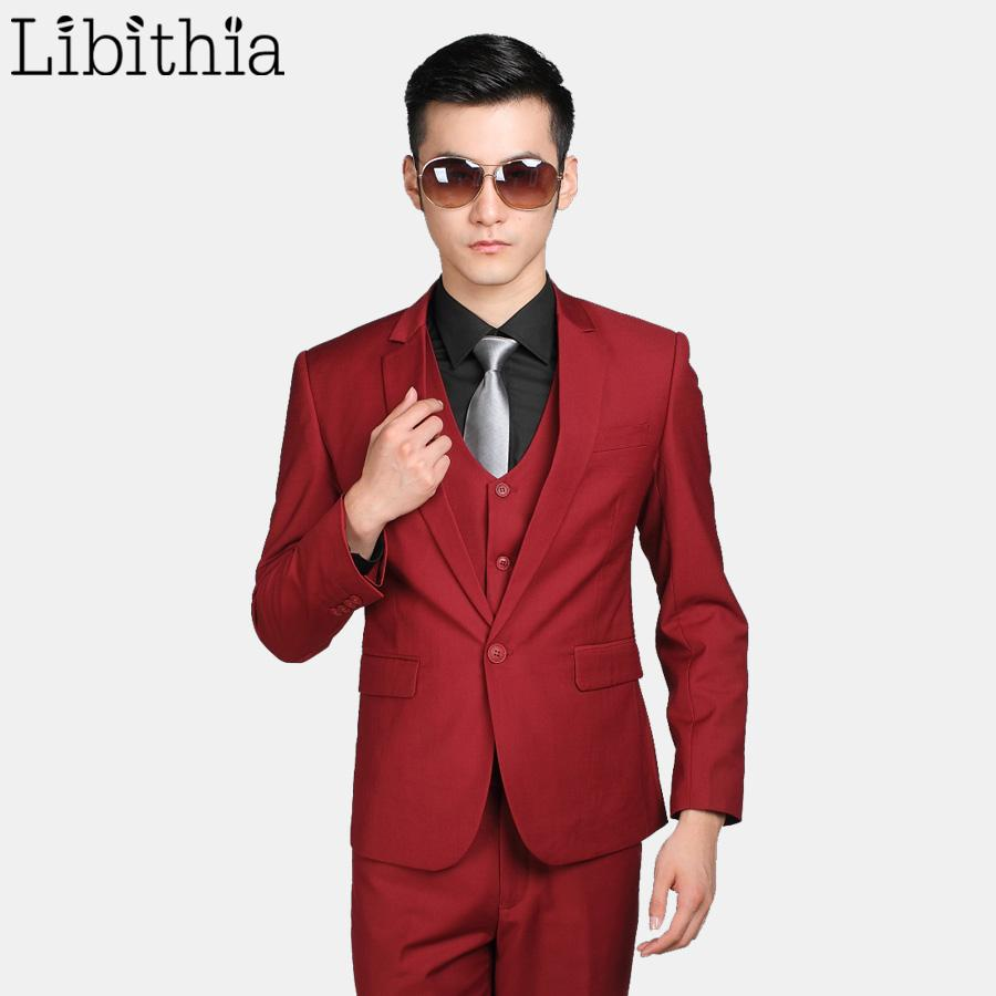 1678dd94254986 2019 Wholesale Jacket+Pant+Tie Men'S Formal Wedding Suits For Men Costume  Homme Slim Fit One Button Clothes Blazer Masculino S309 From Morph1ne, ...