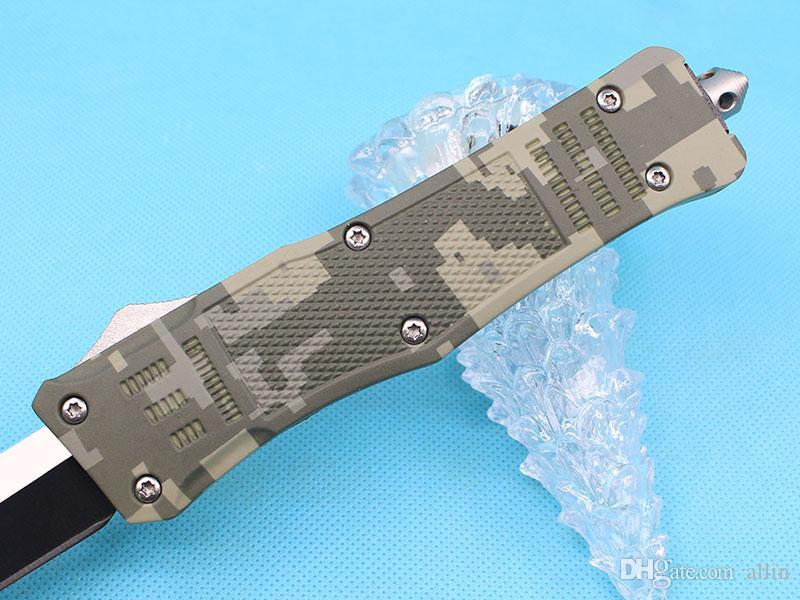 Продвижение большого размера 616 зеленый камуфляж ручка автоматический тактический нож 440C 58HRC одноразовые кромки танто лезвия ножи тактичный редуктор