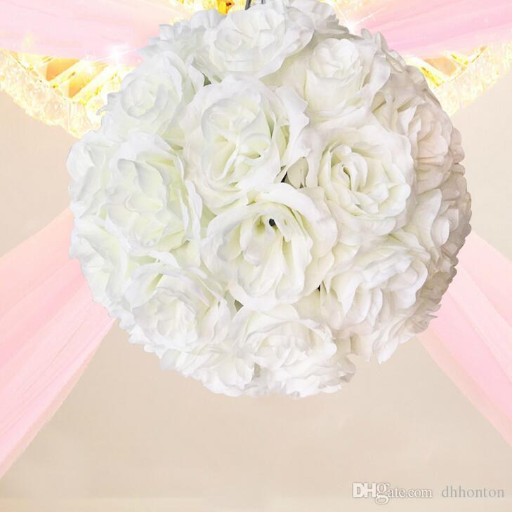 Elegant Wedding silk Pomander Encrypt hanging flower ball decorate artificial flower decoration for wedding party market FB012