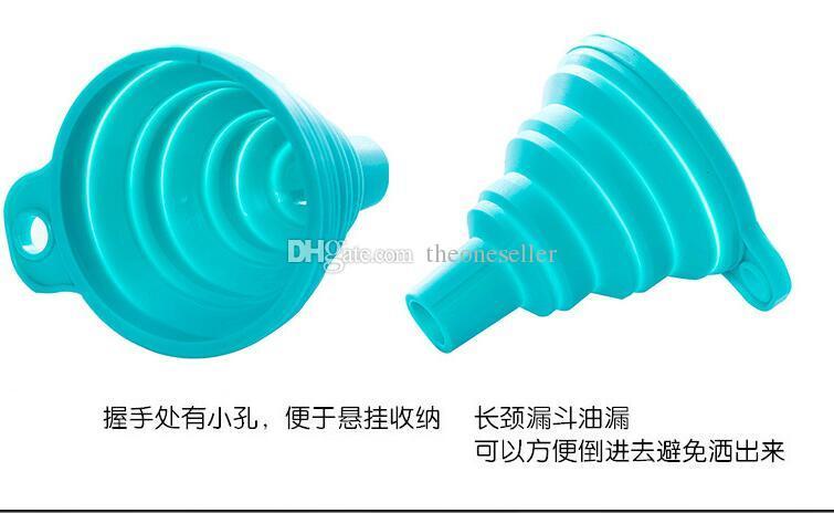 Imbuto pieghevole in silicone mini imbuto pieghevole trasferimento di liquidi 500 pz