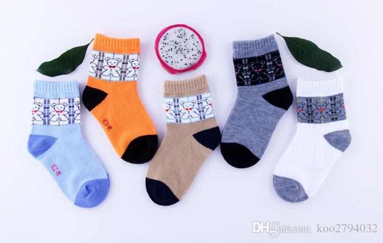 / Pattern muito bonito geométrica dos desenhos animados do bebê Crianças Socks Crianças Cotton de Suave Meninas Meninos Meias adequado para 1-10 Ano