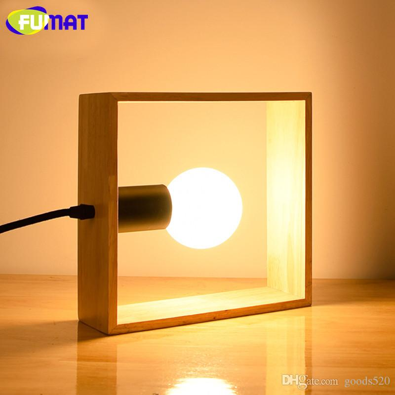 2018 Fumat Square Table Lamp Wooden Bedroom Bedside Light Nordic Study  Decoration Desk Lamp Modern Warm Led Table Lamps From Goods520, $89.45 |  Dhgate.Com