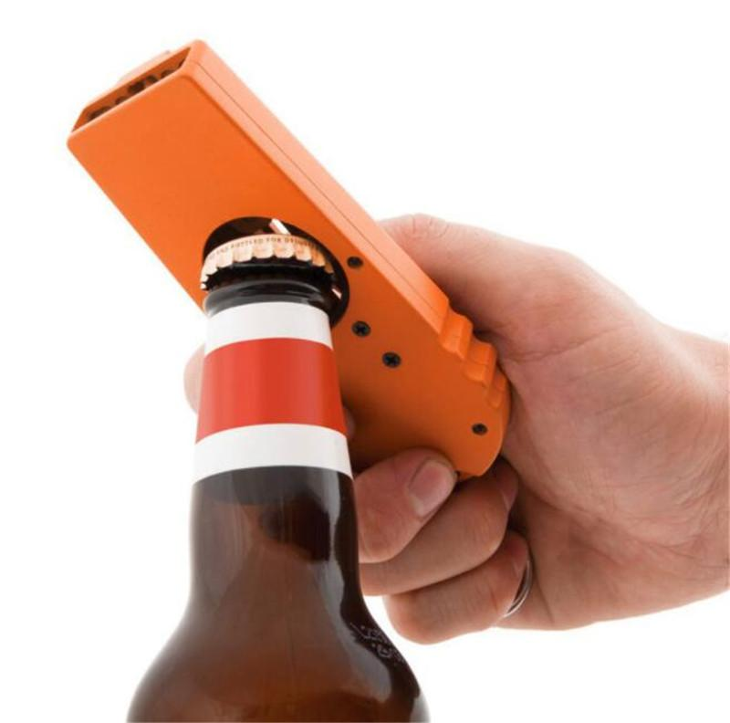 Cap Zappa Bottle Opening Creative Plastic Ejection Beer Bottle Opener Kitchen Tool with Handy Key Chain Party Supplies