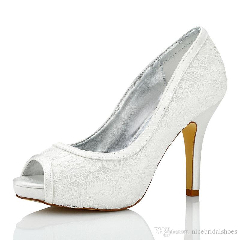 Nice Lace Dyeable Satin Piping Wedding Dress Shoes Platform White Color  Wholesale Women Bridal Wedding Shoes Made In China Bridal Flats Bridal Shoes  Uk From ...