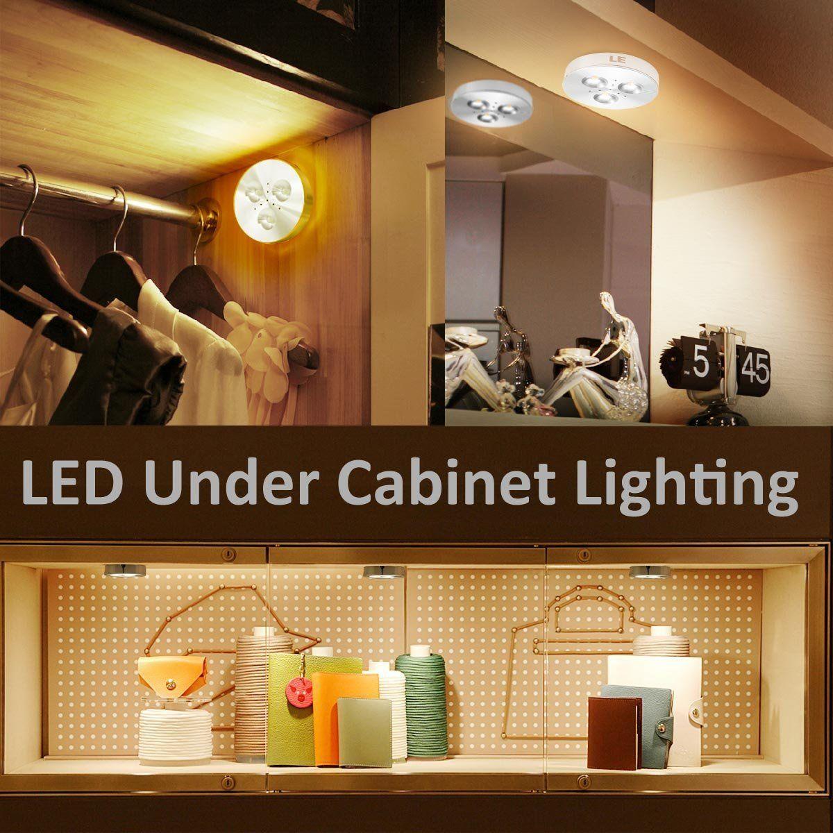 Bright Indoor Spotlight 3W LED Under Cabinet Lighting Puck Lights 12V DC Equal to 25W Halogen Bulb Jewelry LED Light Showcase Cabinet Light