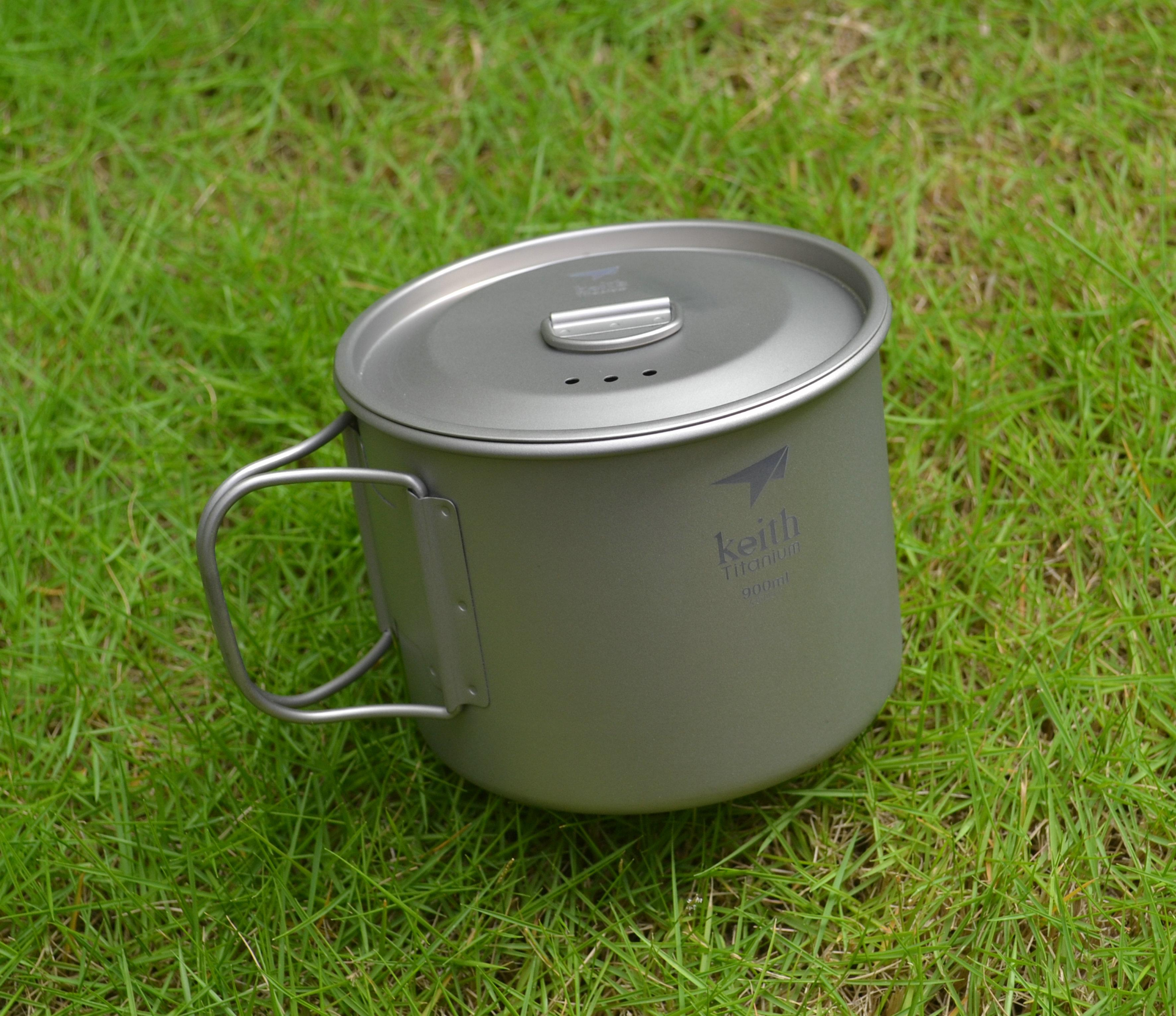 Keith 900ML Titanium Ti6300 Cooker Outdoor Camping Picnic Cooking Tool Portable