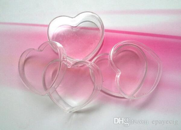 10 ml al por mayor forma contenedores de cera contenedores cera acrílica tarro DAB corazón, contenedores de aceite de cera DAB frasco de vidrio con el envío libre