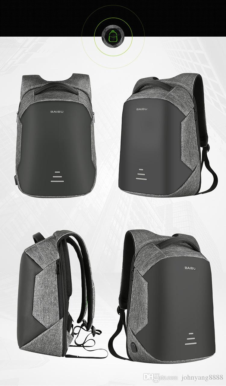 Kingson 15.6 Mochila para portátil Mochila antirrobo con carga USB Mochila para portátil escolar Oxford Mochila de viaje impermeable