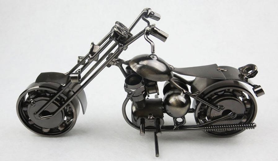 Il più nuovo disegno Stile americano Ferro Artigianato in metallo Harley Modello di moto Giocattolo Modelli di moto Giocattoli Decorazione domestica Accessori Souvenir
