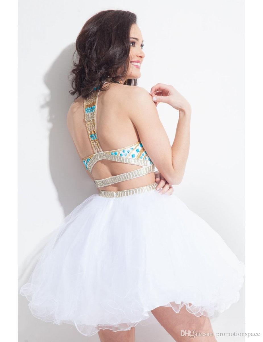 Royal Blue Sexy Мини Короткие две шт Homecoming платья с вышивкой бисером Кристалл 2 шт Cute 8 класс Выпускной Пром платья Новый