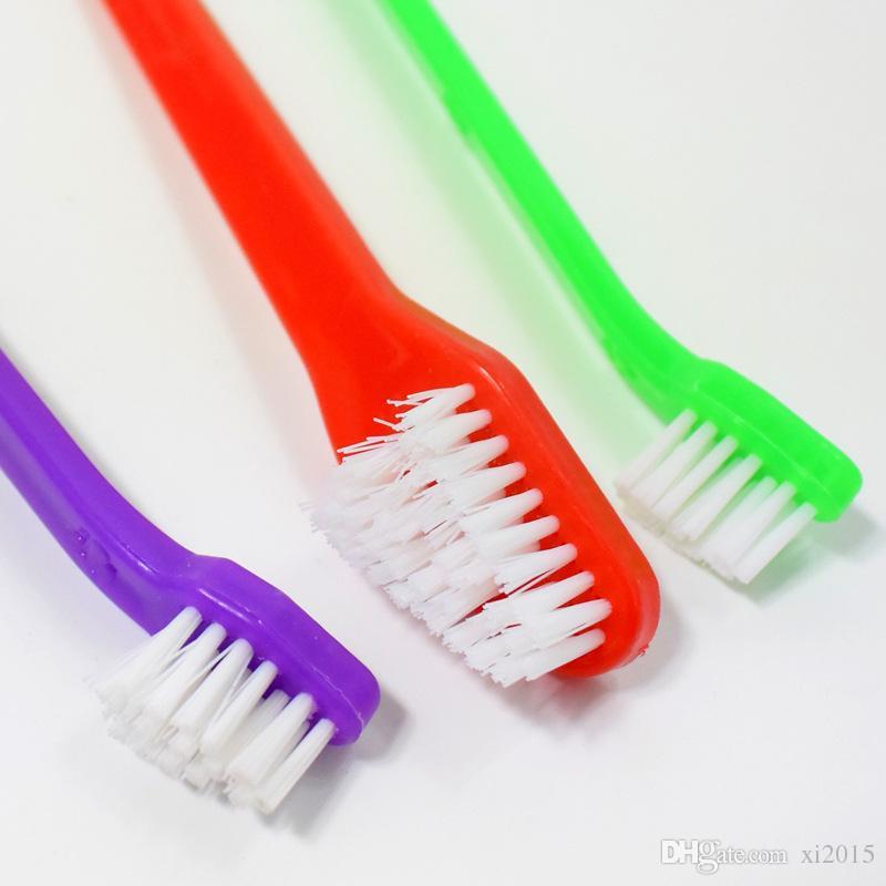 Fournitures pour animaux de compagnie chat chiot chien dentaire brosse à dents de brosse de dents chien de santé couleur couleur aléatoire envoyer