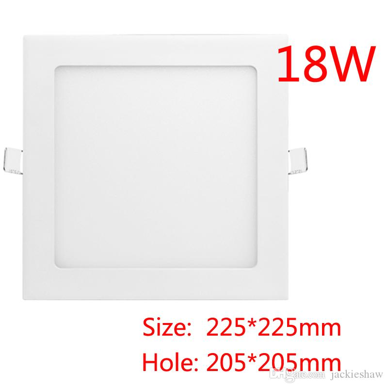 18w Panel Light Square Led Down Ceiling Ac90 265v Smd2835 With Driver 3 Years Warranty
