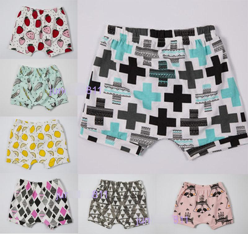 7 Design INS Baby Shorts Fashion baby toddlers pants Children animal fox geometric figure Pattern pants shorts Leggings Free Shipping