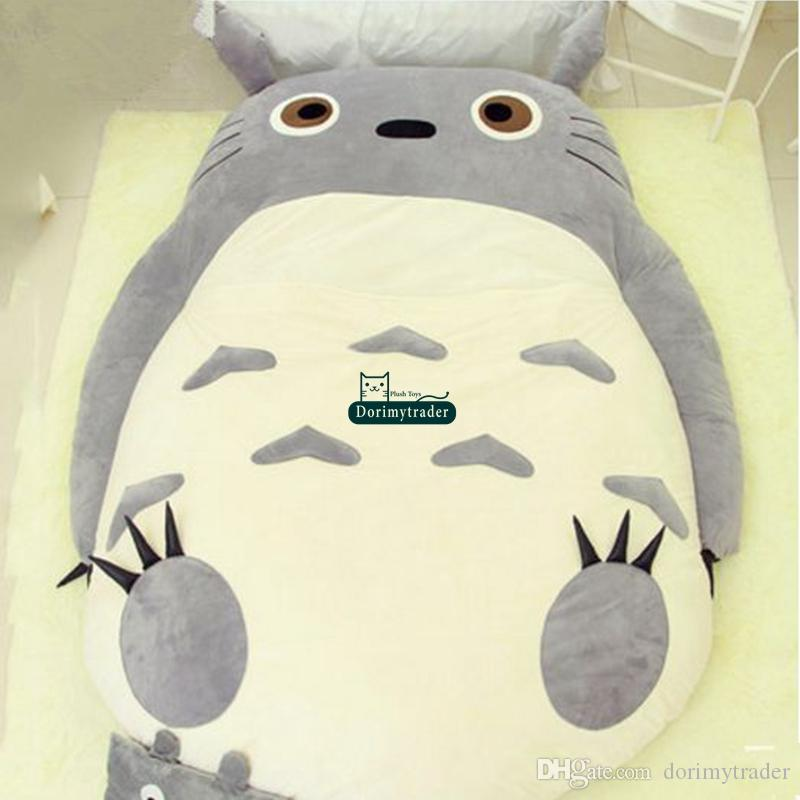 Dorimytrader High Quality 200cm X 150cm Anime Totoro Bed Cute Huge Totoro Bed Tatami Carpet Sofa Beanbag Nice Gift Decoration DY61279