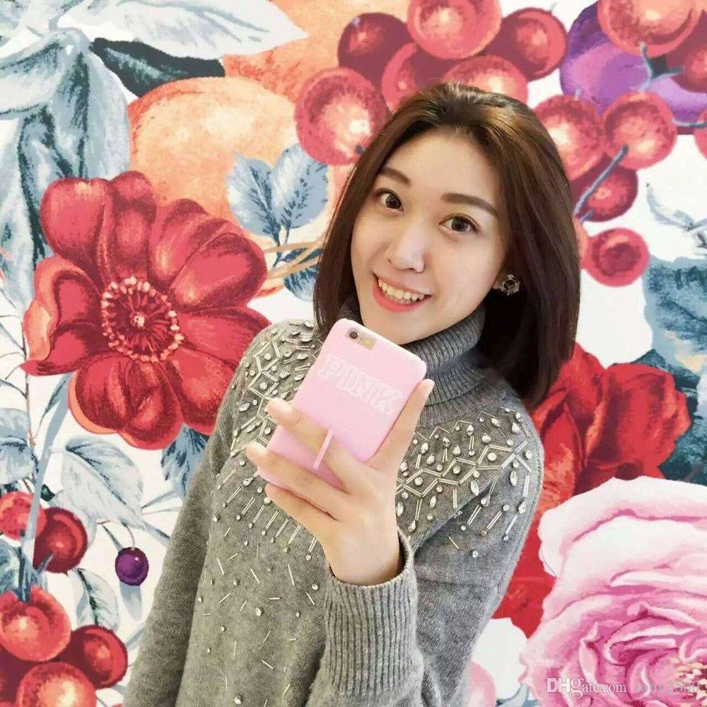 Hot Korea fashion POP PINK lovely Macaroon color I6/6 plus 6s cell phone case for apple iphone 6 cover with ring original box