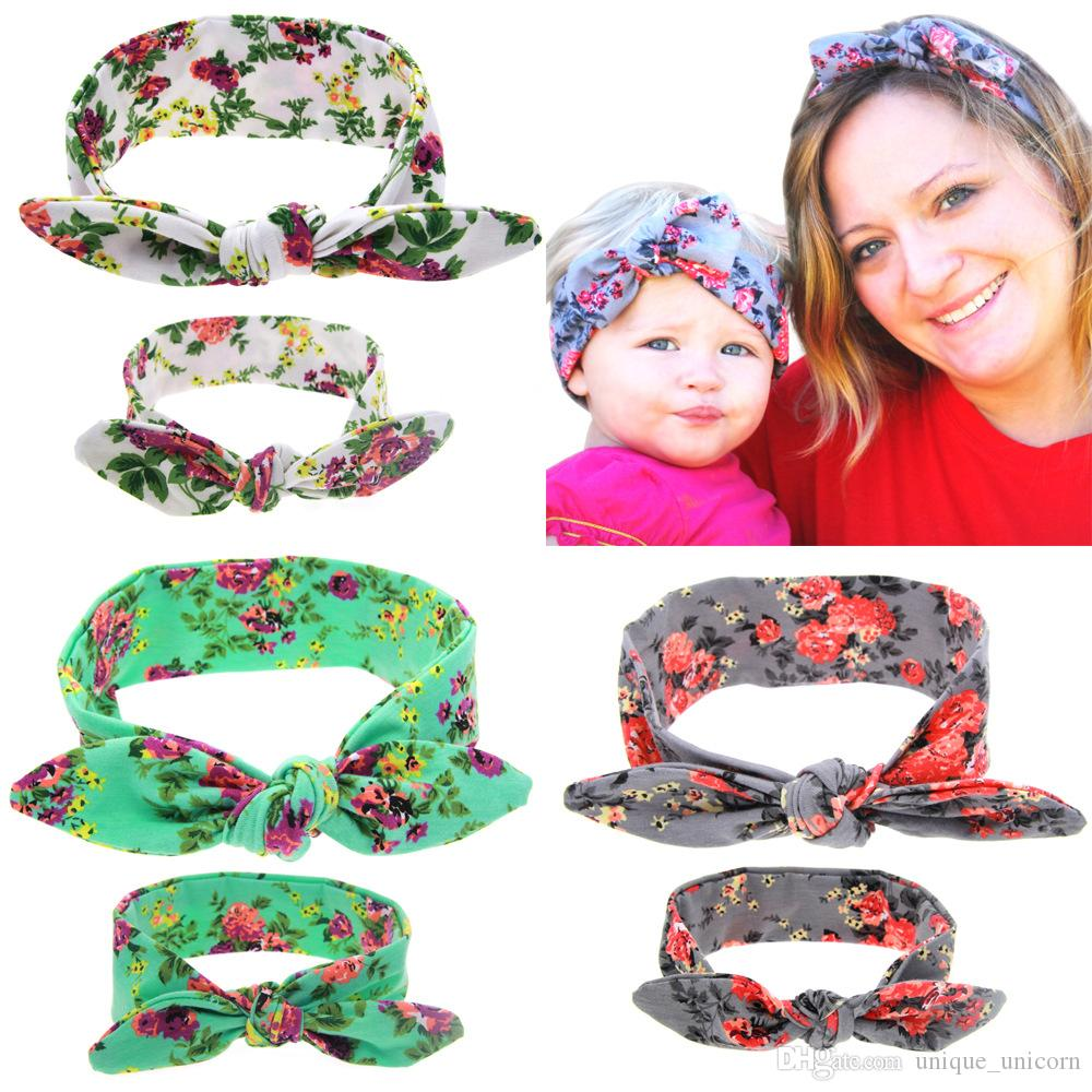 73f44121c Mommy And Me Matching Flower Headbands Photo Prop Gift for Mom And ...