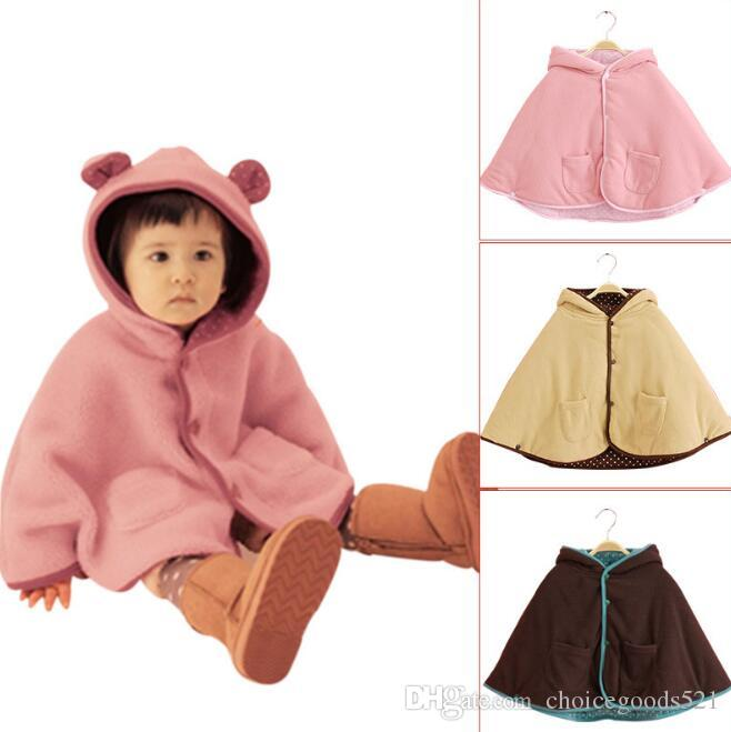 e88a13c2c98c Winter Baby Jacket Children Ears Cloak Kids Hoodies Outerwear Girl ...
