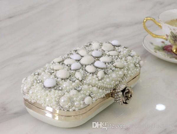 2016 El Más Nuevo de Lujo Mini Bolsas Cristales Bolas Nupcial Bolso de Noche de La Boda Un Hombro Novias Carteras Bolsos Embragues Monedero