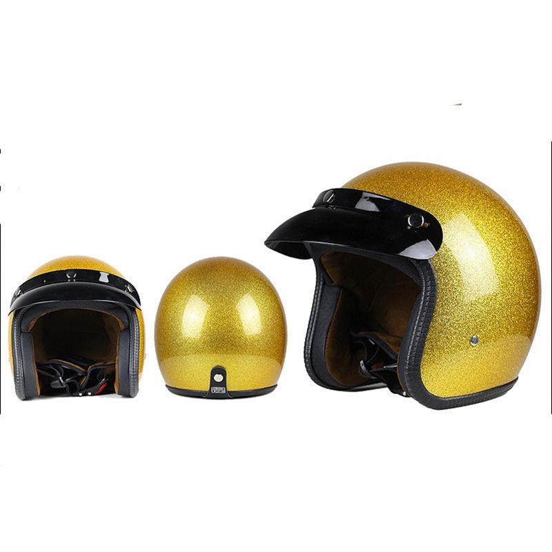 TKOSM 3/4 offenes Gesicht Vintage Scotter Jet Motorrad Helm Motocross Capacete Cascos Moto Retro Csque Casco Para Motocross Vespa