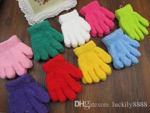 Gloves Fashion Soft Wrist Mittens Boy Girl Children Winter Gloves Cute Candy NEW