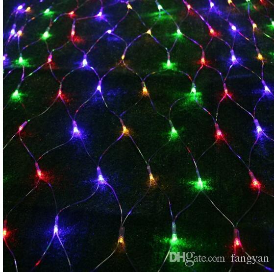 2 Mt * 3 Mt 210 LED String Fairy Net Licht Mesh Vorhang Decke Gartenpflanze Weihnachten Hochzeit Dekoration Led-lampe 220 v Eu-stecker