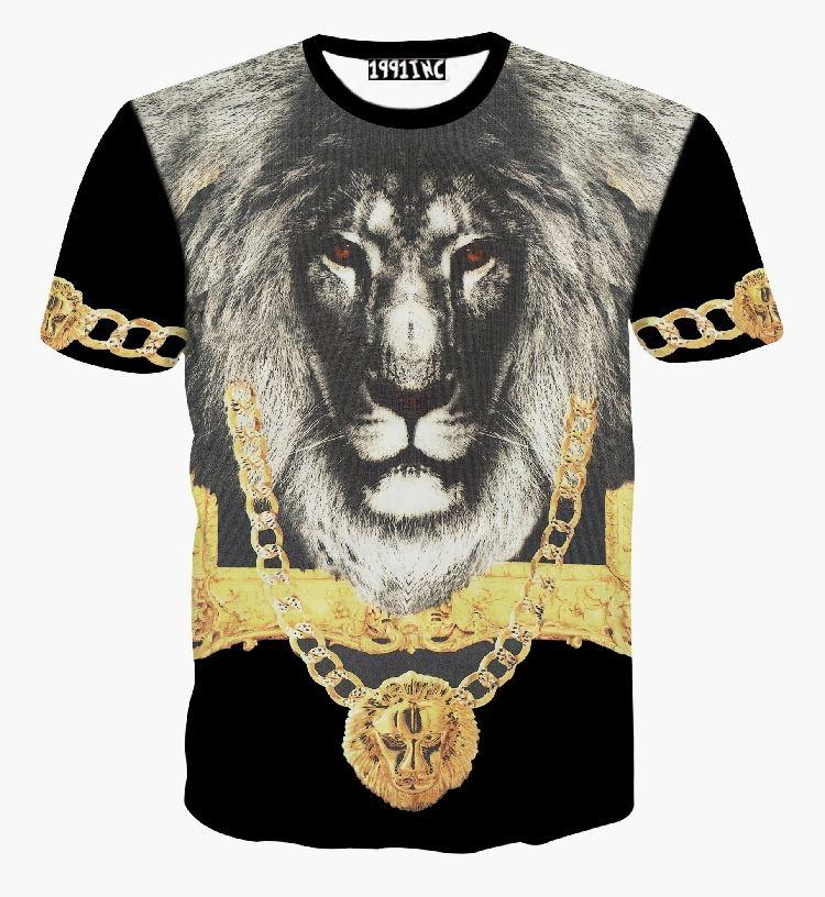 e5b71c4d Totem Lion Animal 3d T Shirt Vintage Religion Baroque Style Shackle/Chain Graphic  T Shirts Women/Men Summer Tee Tops Buy Tees Funniest T Shirt From ...