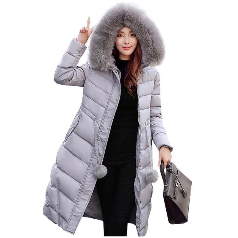 2018 2017 New Thicken Women Down Parka Jacket Coat Winter Warm ...