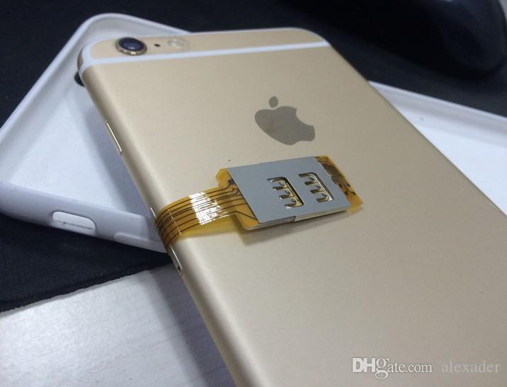 Iphone 6s Plus Sim Karte.Dual Sim Karten Und Single Standby Adapter Für Iphone 6 6s Plus Für Gsm Wcdma Td Lte Sim Karte