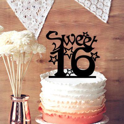 Cake Toppers For Birthday Sweet 16 Birthday Cake Topper Festival