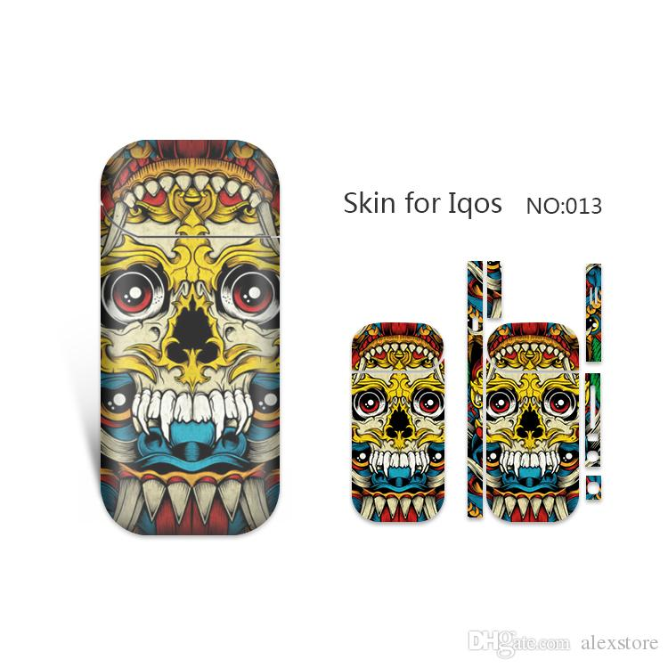 IQOS Skin Printing Wraps Sticker Cases Cover Holder for IQOS Box Mod Vape Protective Film Stickers With Fashion 19 Cool Pattern