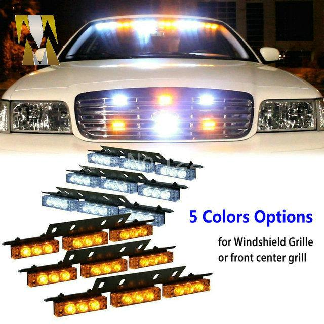 6x9 Yellow Amber flash light LED Snow Plow Car Boat Truck Warning Emergency Strobe Lights white blue red DC 12V