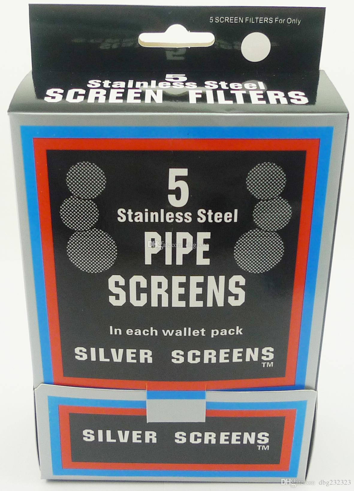무료 배송 --- 파이프 스크린 담배 파이프 스크린 흡연 파이프 스크린 실버 컬러 0.78