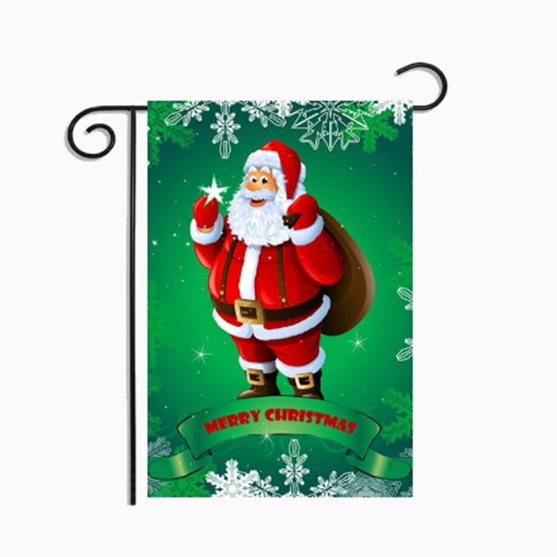 2018 christmas flags decoration reindeer 3045cm garden santa claus snowflake xmas party home decor polyester flag banner decorative from glass_smoke - Decorative Christmas Flags