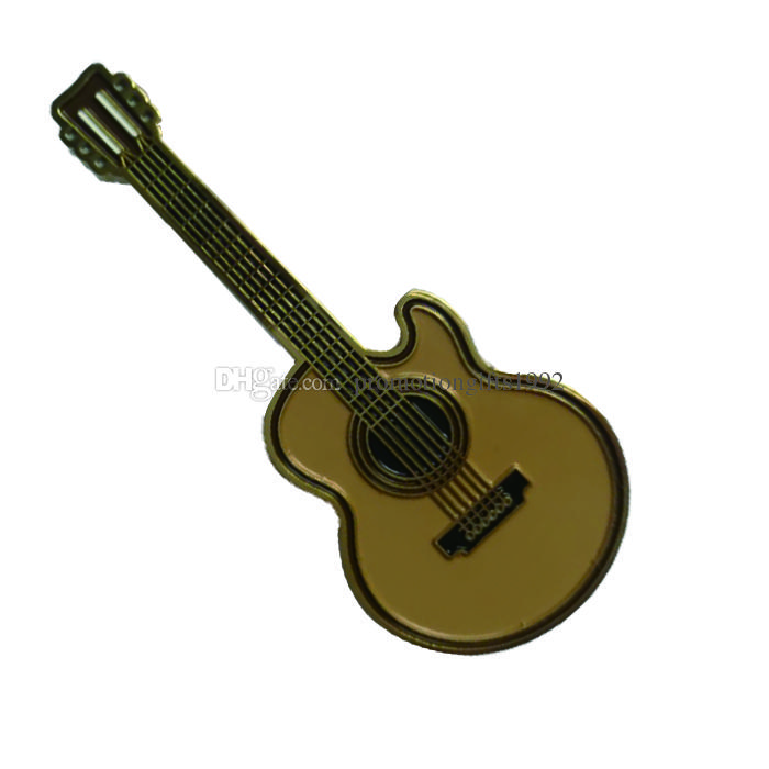 Free DHL Shipping China Wholesale High Quality Custom Small Violin Guitar  Pin Metal Badges as Giveaway Gifts