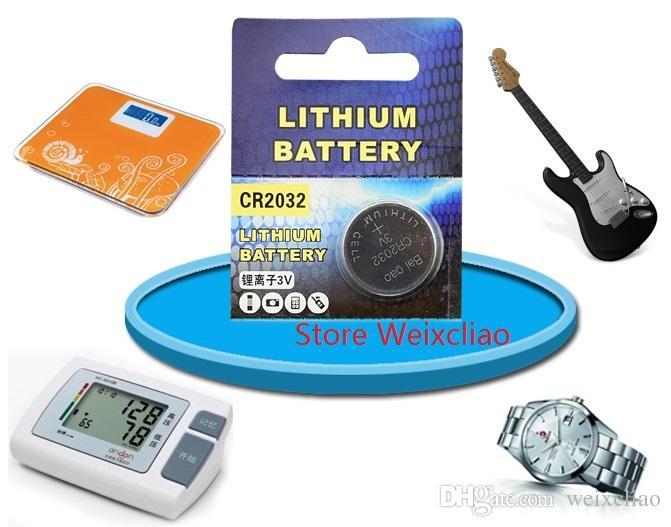 500 قطع 1 وحدة cr2032 3 فولت بطارية ليثيوم أيون زر خلية البطارية cr 2032 3 فولت بطاريات ليثيوم أيون عملة شحن مجاني