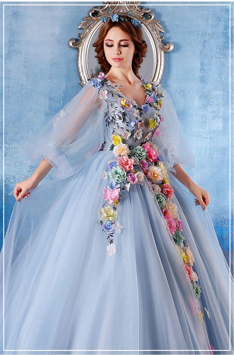 Discount Color Flowe Color Blossom Wedding Dresses Bride Wedding ...