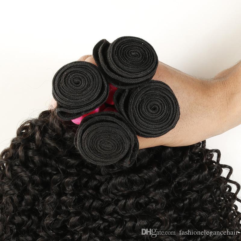 7A Brasilianisches Verworrenes Lockiges Reines Haar 3 Bundles, Brasilianisches Lockiges Reines Haar Menschenhaar Extensions Brasilianische Haarwebart Bundles